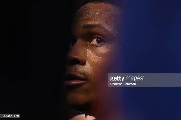 Russell Westbrook of the Oklahoma City Thunder stis on the bench during a time out from the NBA game against the Phoenix Suns at Talking Stick Resort...