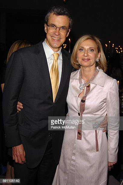 Russell Wilkinson and Eileen Guggenheim attend The New York Academy of Art TRIBECA BALL La Dolce Vita at Skylight Studios on April 21 2005 in New...