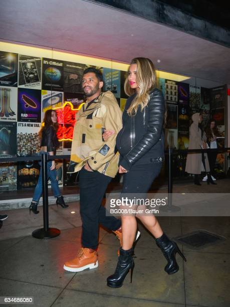 Russell Wilson and Ciara are seen on February 10 2017 in Los Angeles California