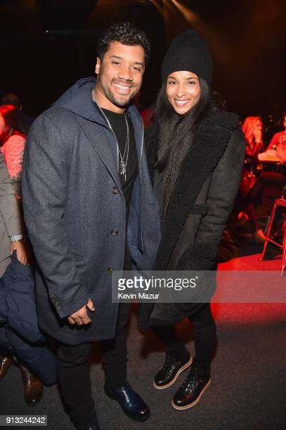 Russell Wilson and Ciara attend American Express Justin Timberlake Partner for Intimate Album Listening Experience Just Hours Ahead of Release at...