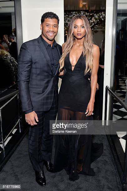 Russell Wilson and Ciara attend Daily Front Row Fashion Los Angeles Awards Private Dinner Hosted By Eva Chow And Carine Roitfeld at Mr Chow on March...