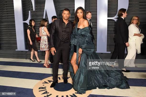 Russell Wilson and Ciara attend the 2018 Vanity Fair Oscar Party hosted by Radhika Jones at the Wallis Annenberg Center for the Performing Arts on...