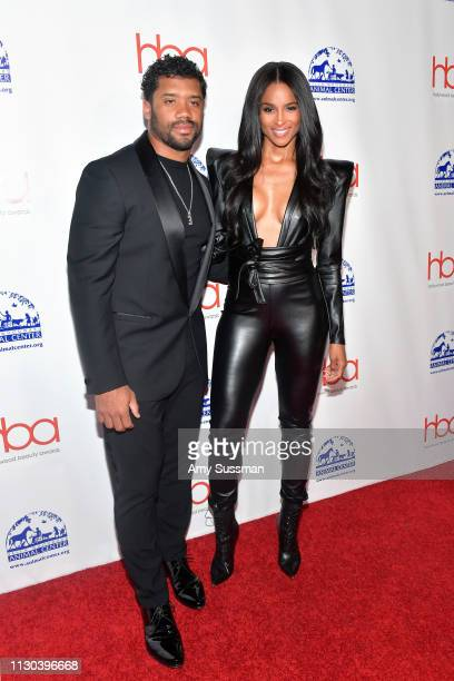 Russell Wilson and Ciara attend the 2019 Hollywood Beauty Awards at Avalon Hollywood on February 17 2019 in Los Angeles California