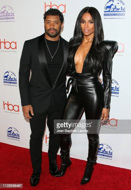 Russell Wilson and Ciara attend the 2019 Hollywood Beauty Awards on February 17 2019 in Los Angeles California