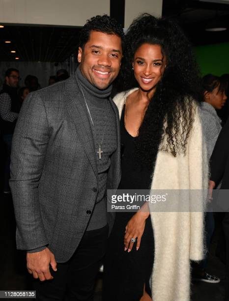 Russell Wilson and Ciara attend the Bose Frames Audio Sunglasses Launch on February 1 2019 in Atlanta Georgia