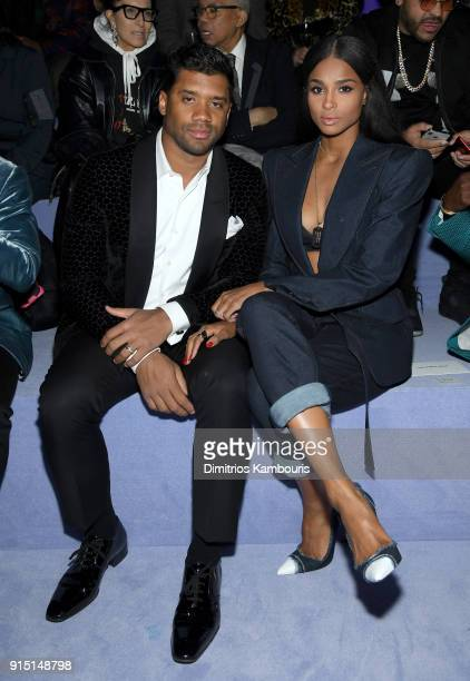 Russell Wilson and Ciara attend the Tom Ford Fall/Winter 2018 Men's Runway Show at the Park Avenue Armory on February 6 2018 in New York City