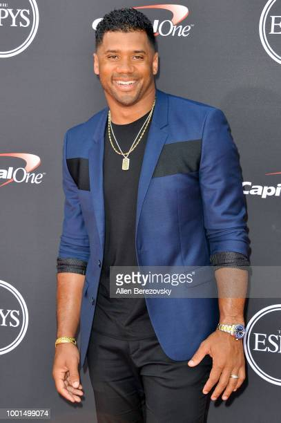 Russell Wilson attends The 2018 ESPYS at Microsoft Theater on July 18 2018 in Los Angeles California