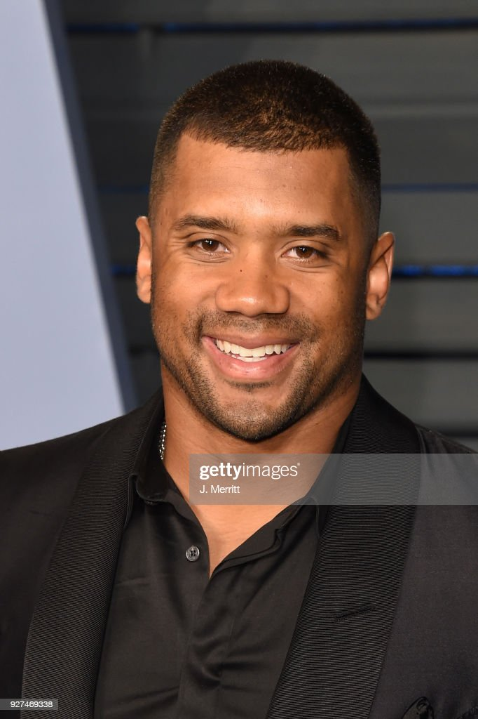 Russell Wilson attends the 2018 Vanity Fair Oscar Party hosted by Radhika Jones at the Wallis Annenberg Center for the Performing Arts on March 4, 2018 in Beverly Hills, California.