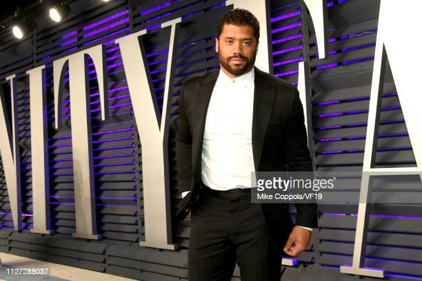Russell Wilson attends the 2019 Vanity Fair Oscar Party hosted by Radhika Jones at Wallis Annenberg Center for the Performing Arts on February 24...