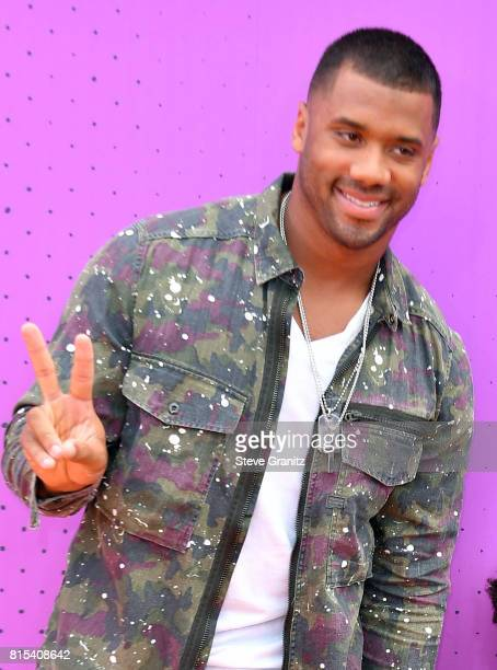 Russell Wilson attends the Nickelodeon Kids' Choice Sports Awards 2017 at Pauley Pavilion on July 13, 2017 in Los Angeles, California.