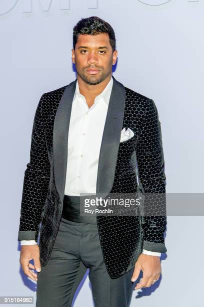 Russell Wilson attends the Tom Ford Fall/ Winter 2018 Men's Runway Show at Park Avenue Armory on February 6 2018 in New York City
