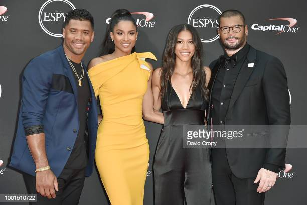 Russell Wilson Ciara Anna Wilson and Harrison Wilson attend The 2018 ESPYS at Microsoft Theater on July 18 2018 in Los Angeles California