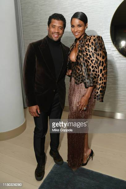 Russell Wilson Ciara attned the InStyle Dinner to Celebrate the April Issue Hosted By Cover Star Ciara and Laura Brown on March 13 2019 in New York...