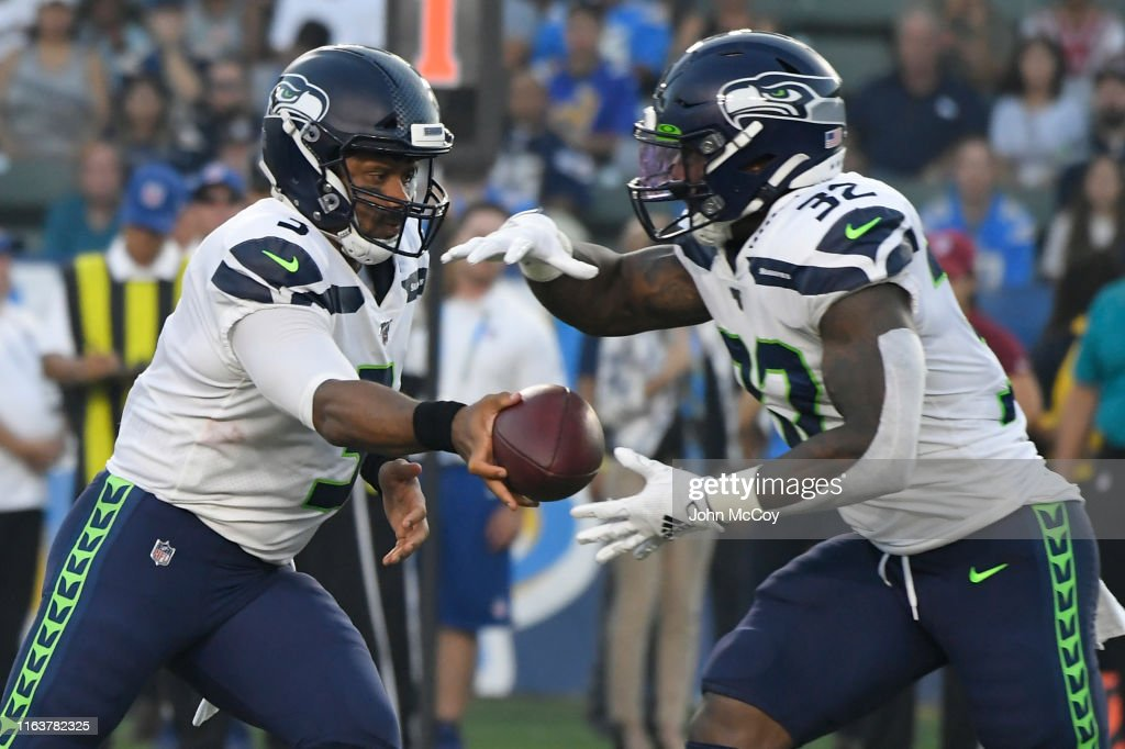 Seatle Seahawks v Los Angeles Chargers : News Photo