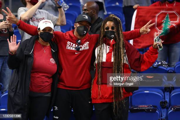 Russell Wilson, quarterback for the Seattle Seahawks, celebrates the Stanford Cardinal win over the Louisville Cardinals in the Elite Eight round of...
