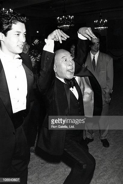 Russell Wong and Pat Morita during 7th Annual AAPAA Media Awards at Beverly Hilton Hotel in Beverly Hills California United States