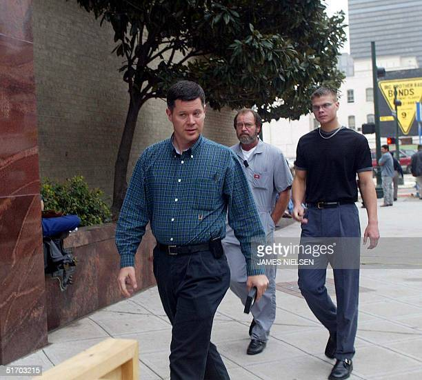 Russell Yates the husband of Andrea Pia Yates arrives at the Harris County Courthouse for the sentencing phase of his wife's capital murder trial in...