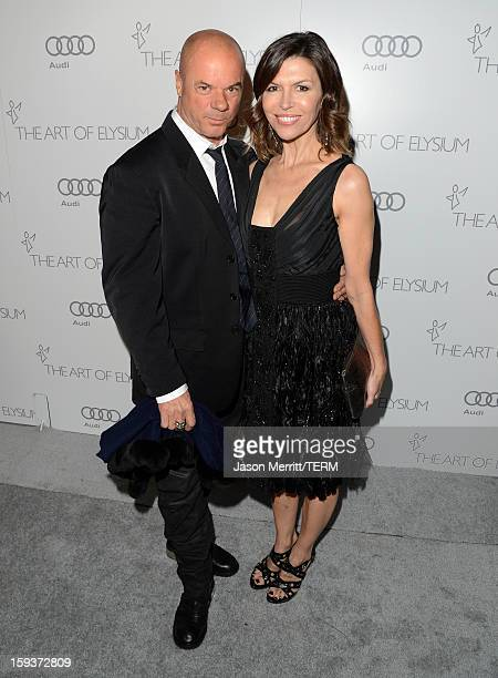 Russell Young and actress Finola Hughes attend The Art of Elysium's 6th Annual HEAVEN Gala presented by Audi at 2nd Street Tunnel on January 12 2013...