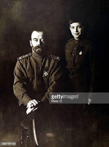 Russia 1916 Czar Nicholas II and the crown Grand Duke