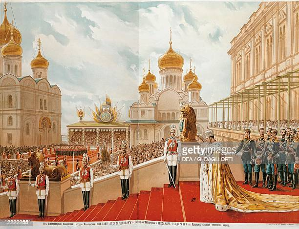 Russia 19th century The Coronation of Tzar Nicholas II Lithograph 1896