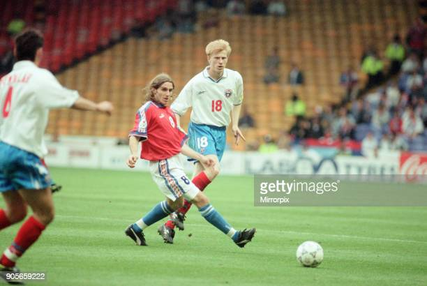 Russia 33 Czech Republic Euro 1996 Group C match at Anfield Liverpool Wednesday 19th June 1996 Karel Poborsky