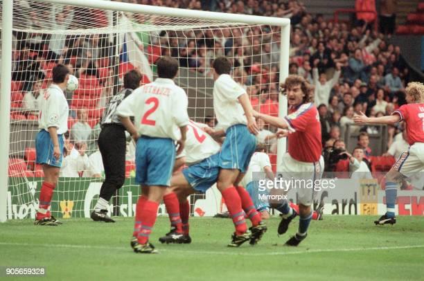 Russia 33 Czech Republic Euro 1996 Group C match at Anfield Liverpool Wednesday 19th June 1996 Jan Suchoparek goal