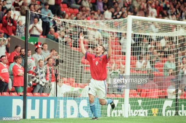 Russia 33 Czech Republic Euro 1996 Group C match at Anfield Liverpool Wednesday 19th June 1996 Pavel Kuka