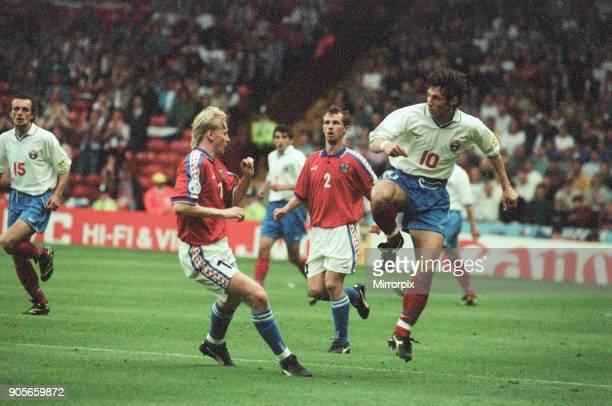 Russia 33 Czech Republic Euro 1996 Group C match at Anfield Liverpool Wednesday 19th June 1996 Aleksandr Mostovoi