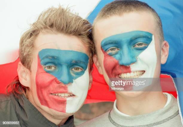 Russia 33 Czech Republic Euro 1996 Group C match at Anfield Liverpool Wednesday 19th June 1996 Czech Fans