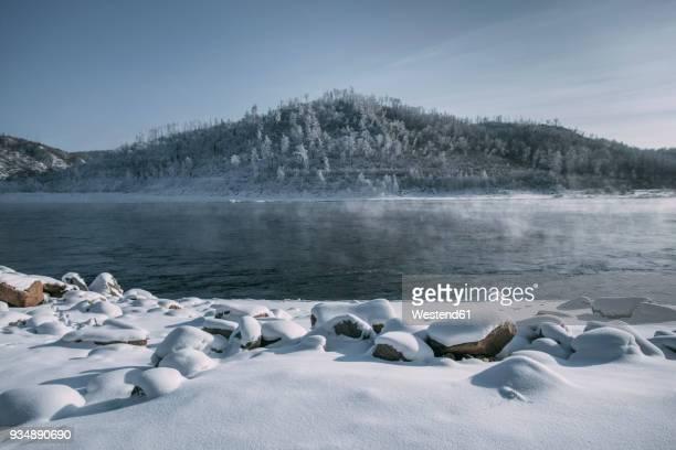 Russia, Amur Oblast, Bureya River in winter