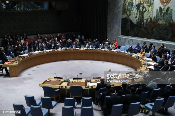 Russia and China veto US resolution calling for free elections delivery of aid in Venezuela during a UN Security Council meeting at the United...