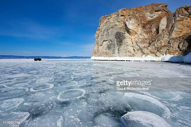 Russia, Baikal lake, frozen lake during winter