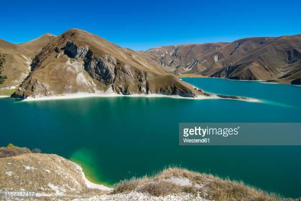 russia, caucasus, chechnya, lake kezenoyam - chechnya stock pictures, royalty-free photos & images