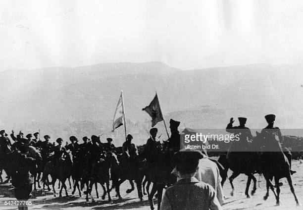 Russia - Caucasus - Uraza Bayran: Volunteers - squadron of the Karachays - - Photographer: Presse-Illustrationen Heinrich Hoffmann - Published by:...