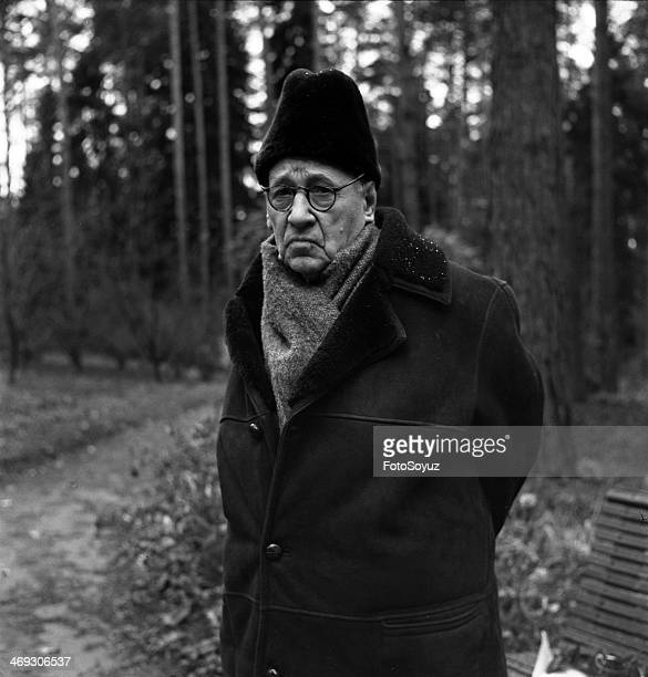 Russia, Center, Moscow Region, 1960s: Aircraft designer Andrey Tupolev at his dacha, 1969.