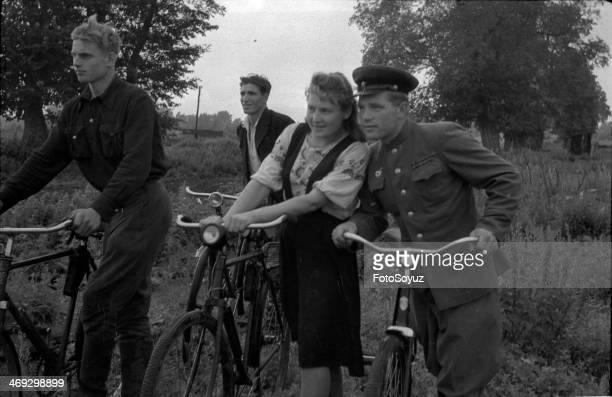Russia, Center, Tambov Region, 1950s: In post-war village, August, 1950.