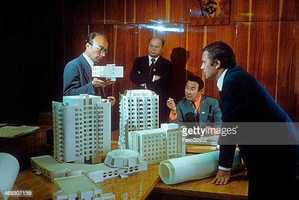 Russia Dalny Vostok Sakha 1970s Architects of Yakutsk discuss the plan of building of city