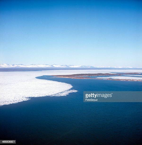 Russia Dalny Vostok Sakha 1970s Lena Spring flood in a lower reaches