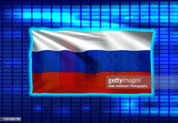 russia flag on binary code 8k rez - electoral college stock pictures, royalty-free photos & images