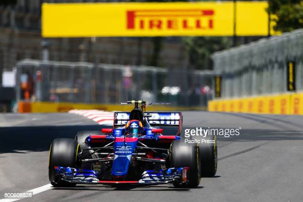 Russia Formula One driver Danil Kvyat of Toro Rosso F1 Team in action during the first practice session of the Formula One Grand Prix of Azerbaijan...