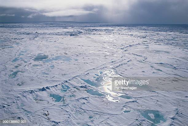 russia, franz josef land, path through ice - north pole stock pictures, royalty-free photos & images