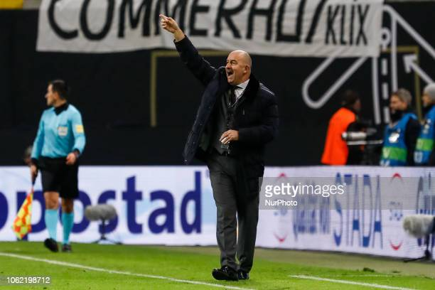 Russia head coach Stanislav Cherchesov gestures during the international friendly match between Germany and Russia on November 15 2018 at Red Bull...