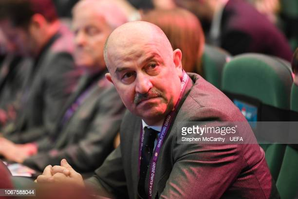 Russia head coach Stanislav Cherchesov prior to the UEFA Euro 2020 Draw on December 2 2018 in Dublin Ireland
