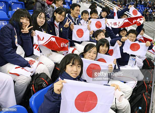 SOCHI Russia Junior high school students from northeastern Japan areas hit by the 2011 earthquake and tsunami watch a consolation game for seventh...