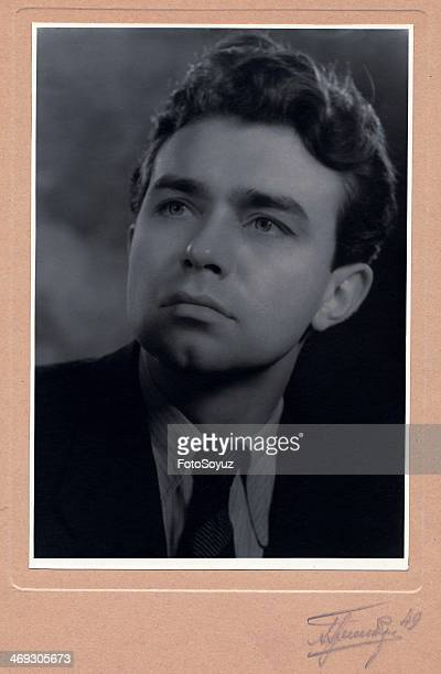Russia, Moscow, 1940s: Film actor Michael Kuznetsov , 1949.