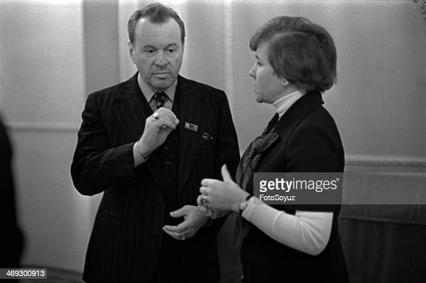 Russia, Moscow, 1970s: November 1979 year, The seventh congress of composers in the Columned hall of the House of the Unions, Evgenie Svetlanov and...