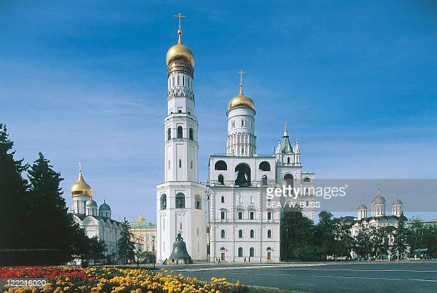Russia - Moscow. Kremlin . Bell Tower of Ivan the Great, built 16th century, damaged and restored 19th century.