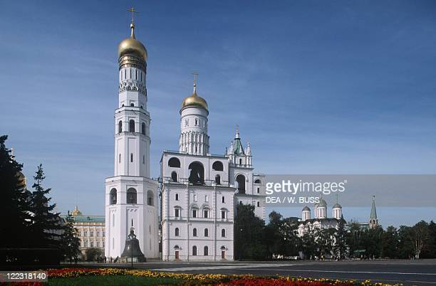 Russia Moscow Kremlin Bell Tower of Ivan the Great built 16th century damaged and restored 19th century