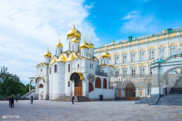 Russia Moscow Kremlin the golden domes of the Royal church