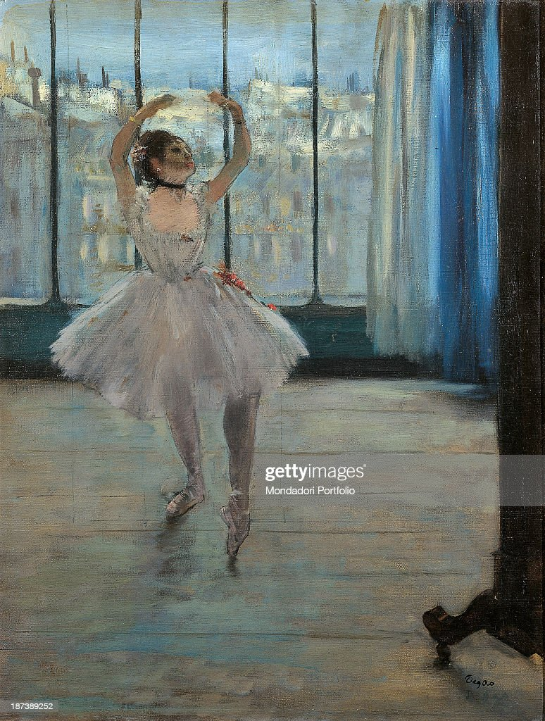Dancer at the Photographer's Studio, by Degas Edgar, 19th Century, 1875, oil on canvas, cm 65 x 50 : News Photo